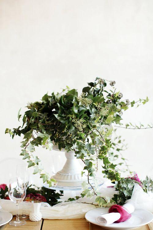 Ivy Centrepiece For Autumn Wedding