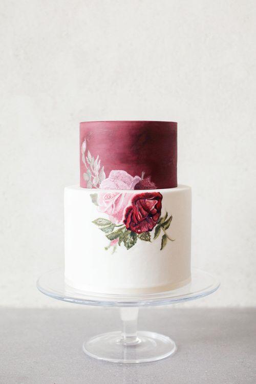 Painted Wedding Cake