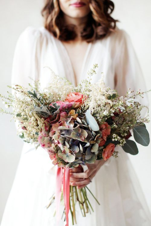 Bouquet With Berry Tones and Foliage