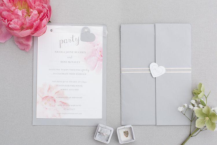 Pink, Grey & White Wedding Stationery