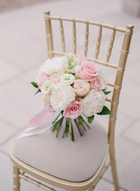 Classic Pink & White Bridal Bouquet