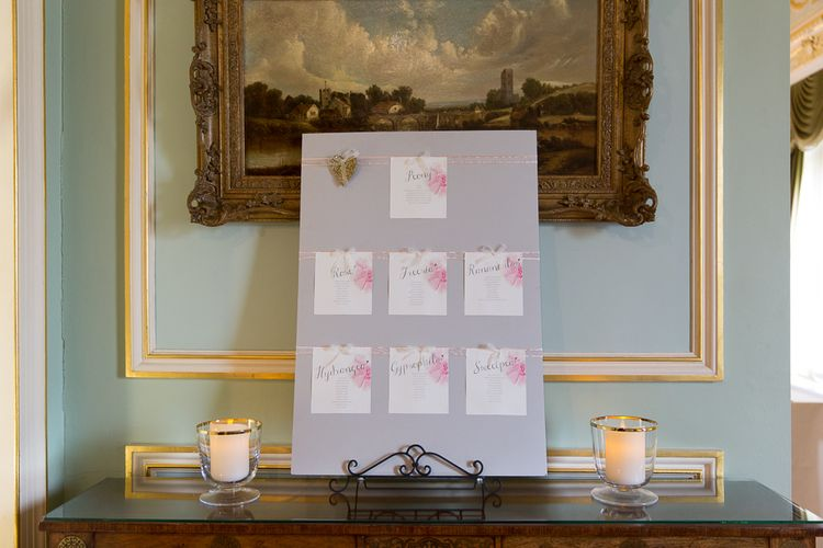 Pink & Grey Table Plan