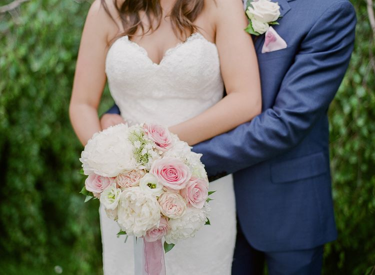 Classic Pink & White Wedding Bouquet