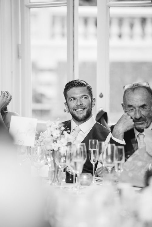 Groom during Reception Speeches