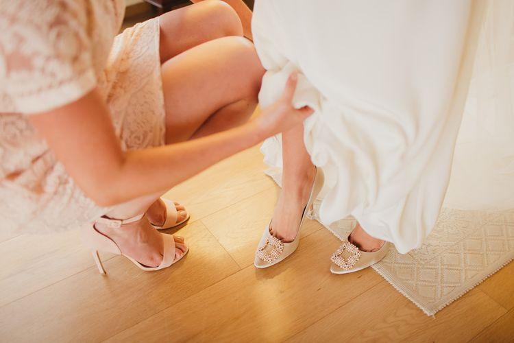 Bridal Preparations | Bridal Shoes | Frances Sales Photography
