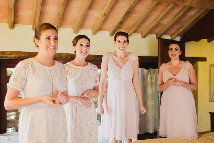Bridesmaids in Pink ASOS Dresses | Frances Sales Photography