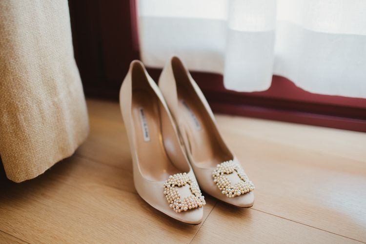 Jewel Encrusted Bridal Shoes | Frances Sales Photography