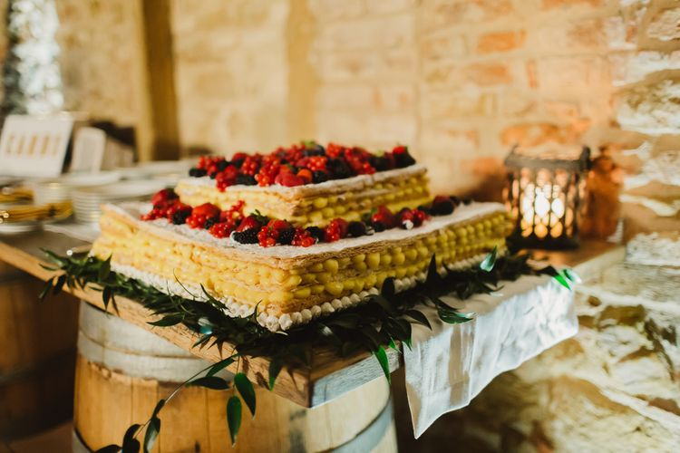 Traditional Italian Mille Feuille with Mixed Berries | Frances Sales Photography