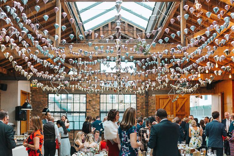 Geometric Hanging Wedding Decor at 06 St Chad's Place