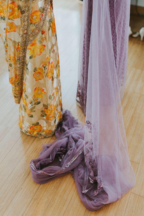 Lavender Sari For Bride