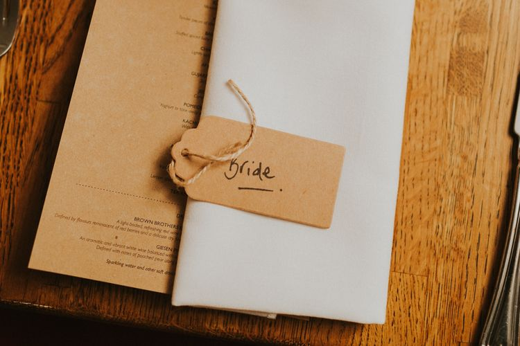 Luggage Tag Place Setting