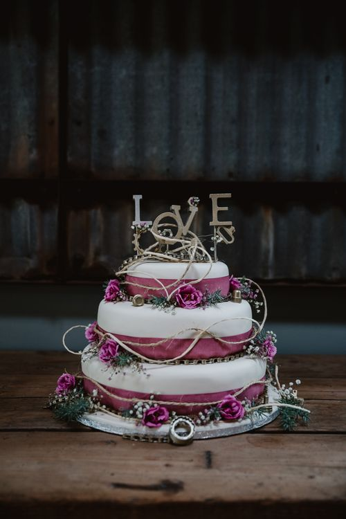 Wedding Cake | Lilac & Navy Rustic Wedding at Stone Barn, Cotswolds | Frankee Victoria Photography