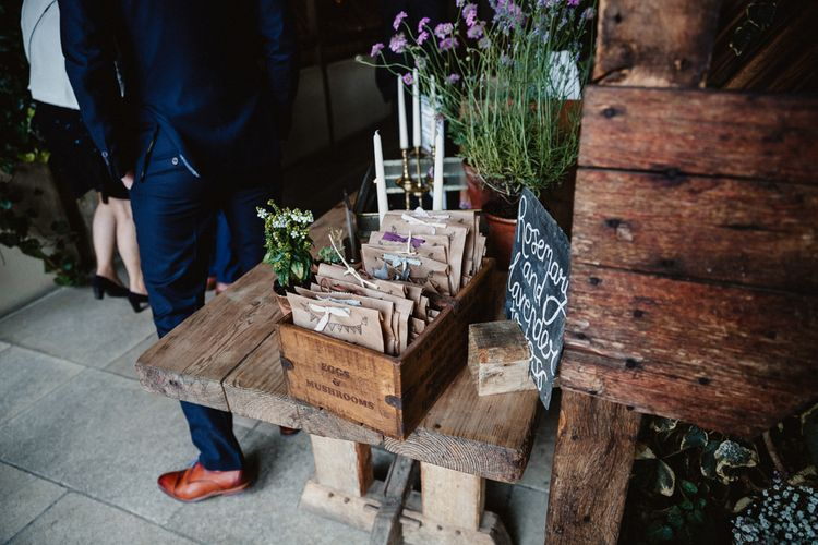 DIY Decor | Lilac & Navy Rustic Wedding at Stone Barn, Cotswolds | Frankee Victoria Photography