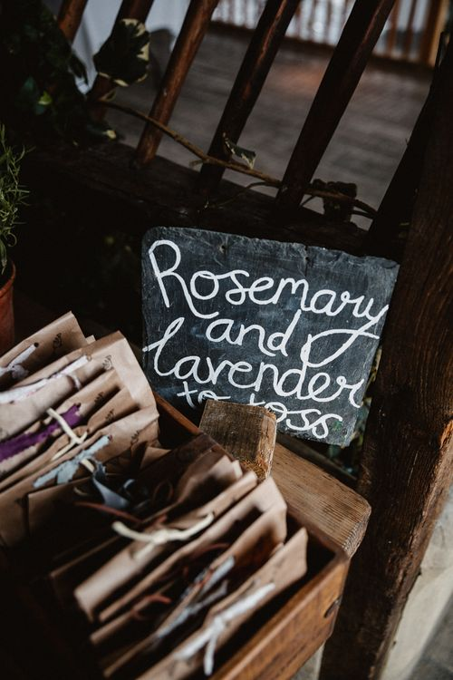 Rosemary & Lavender Confetti Bags | Lilac & Navy Rustic Wedding at Stone Barn, Cotswolds | Frankee Victoria Photography