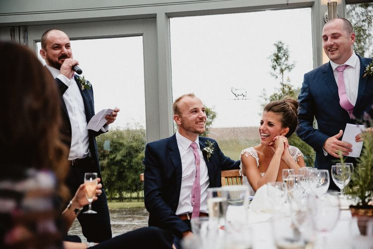 Wedding Guests | Lilac & Navy Rustic Wedding at Stone Barn, Cotswolds | Frankee Victoria Photography