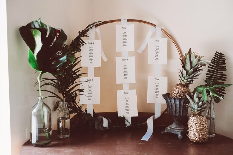 Hoop Table Plan | Outdoor Wedding at Millbridge Court | Lemonade Pictures