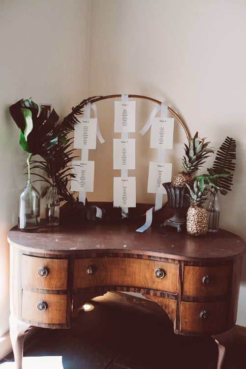 Hoop Table Plan | Botanical Outdoor Wedding at Millbridge Court | Lemonade Pictures