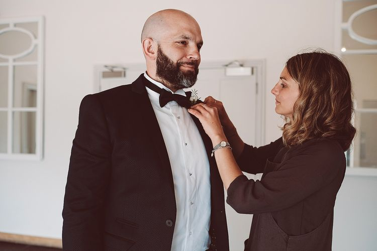 Groom in House of Fraser Tuxedo | Lemonade Pictures