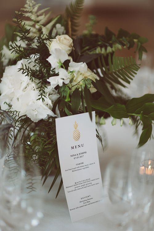 Gold Pineapple Wedding Stationery | Lemonade Pictures