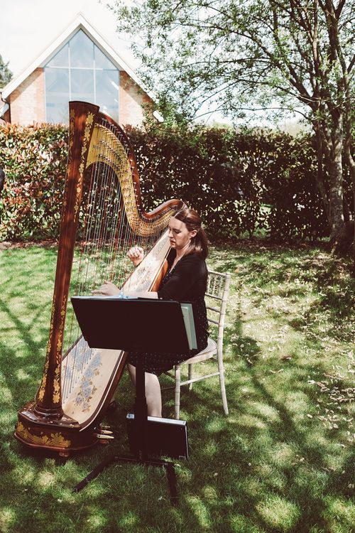 Harpist | Outdoor Wedding at Millbridge Court | Lemonade Pictures