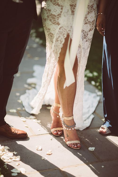 Gianvito Rossi Portofino Sandals | Grace Loves Lace Wedding Dress | Lemonade Pictures