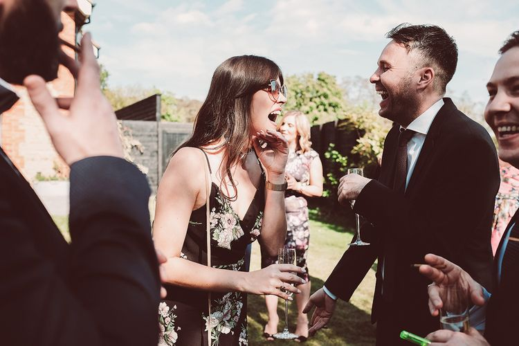 Wedding Guests | Outdoor Wedding at Millbridge Court | Lemonade Pictures