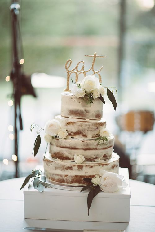 Semi Naked Wedding Cake | Lemonade Pictures