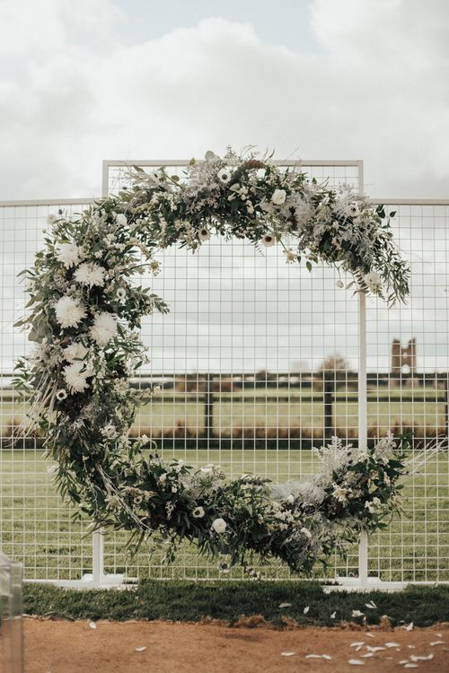 Moon Gate Floral Arch | Nocturn Wedding Inspiration Planned & Styled by The Little Lending Company | Florals by Swaffham Florist | Photography & Film by The Wilde Bride
