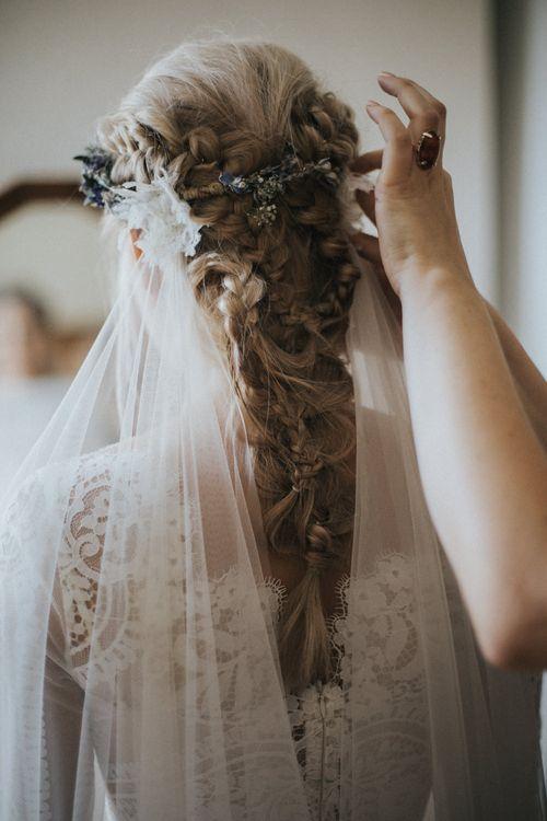 Bridal Braided Up Do & Flower Crown