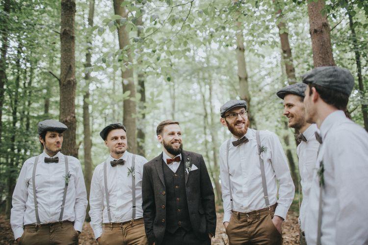 Groomsmen in Braces & Bow Ties