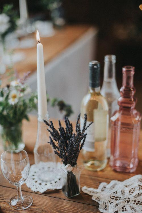 Dried Lavender Springs Wedding Decor