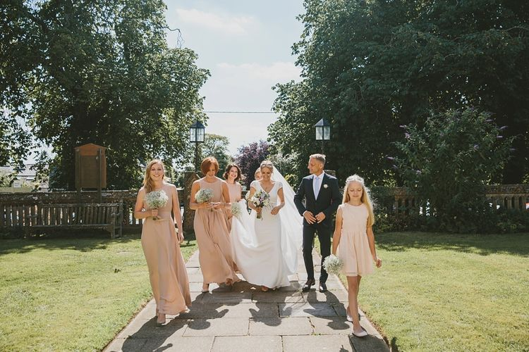 Bridesmaids in Bespoke Pink Dresses
