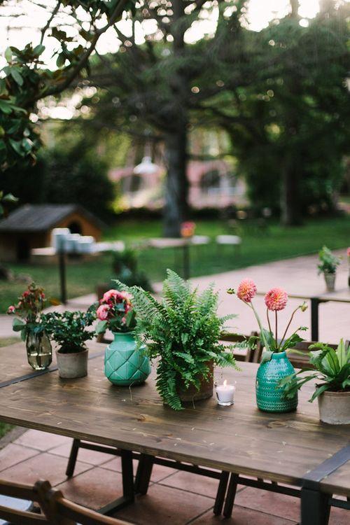 Plant Pot Wedding Flowers Wedding Decor