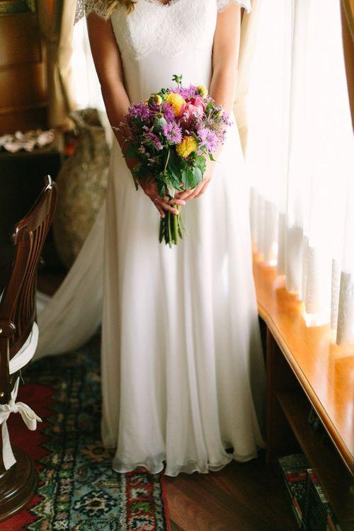 Colourful Bridal Dahlia Bridal Bouquet