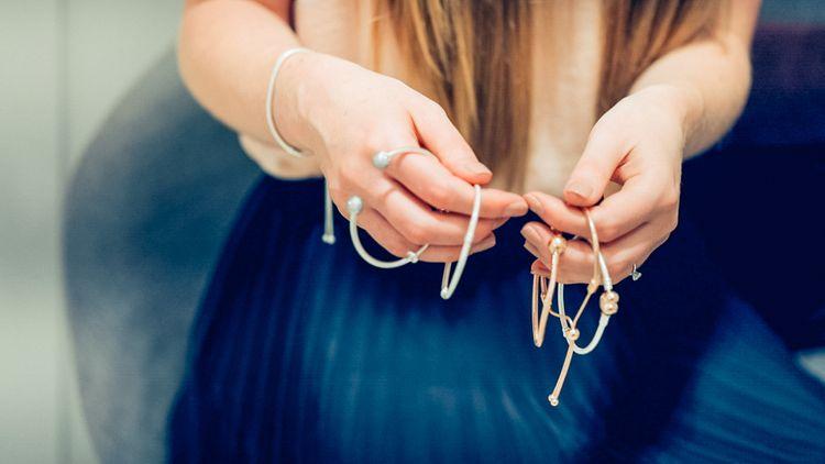 PANDORA rose sliding bracelet & silver sliding bracelet // Thank You Gifts For Bridesmaids From PANDORA