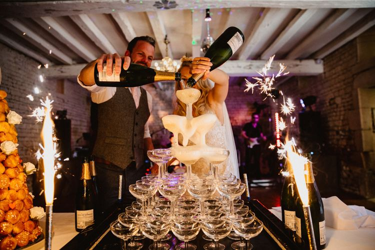 Champagne Tower For Wedding