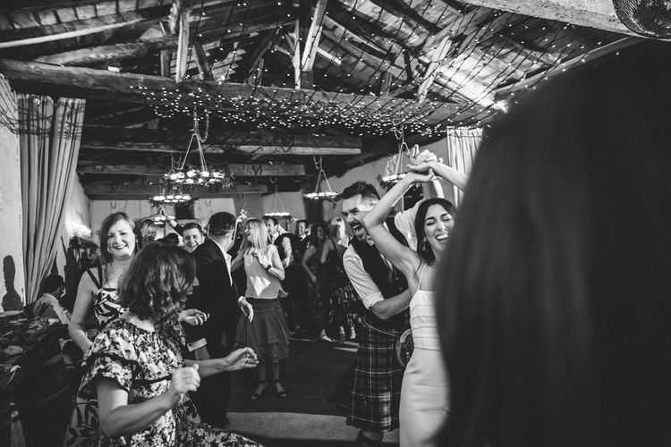 First Dance | Bride in Phase Eight Wedding Dress | Groom in Tartan Kilt | Outdoor Wedding at Chateau Rigaud in France | Real Simple Photography | Yellow Gazelle Film