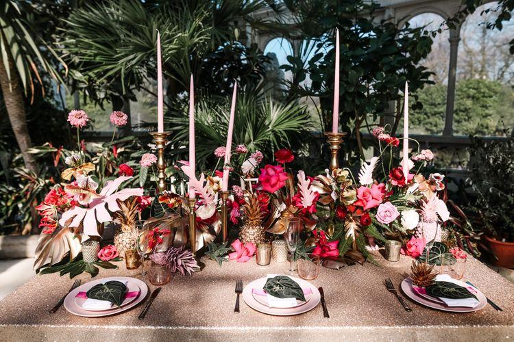 Bright Pink & Botanicals Wedding Inspiration Shoot From Sefton Park Palm House