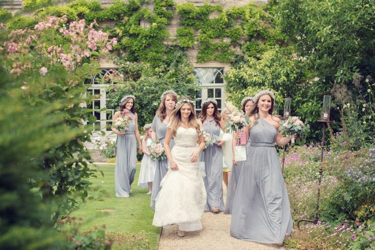 Bridesmaids in David's Bridal