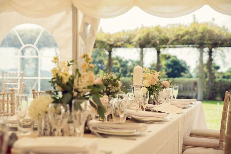 Marquee Wedding Decor