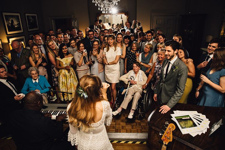 Bride Singing at Wedding