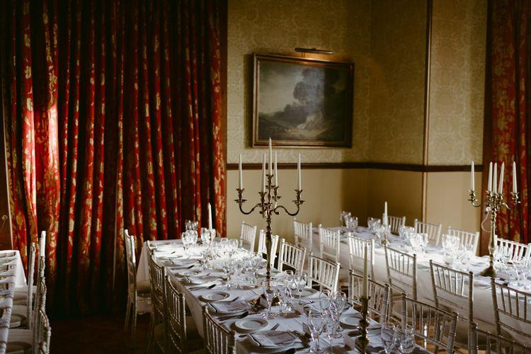 Elegant Winter Wedding At Huntsham Court Devon With Bride In Bespoke Gown & High Necked Cashmere Jumper With Images By Millar Cole Photography