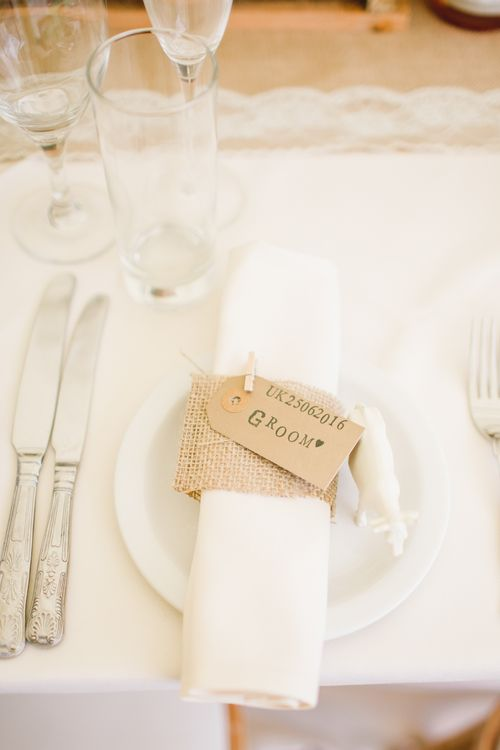 Rustic Place Setting For A Farm Wedding
