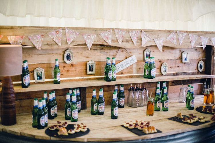 Beer Table At Wedding