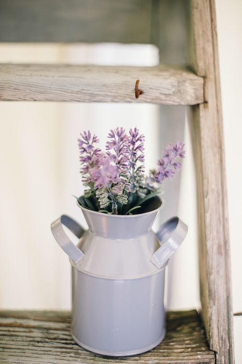 Milk Urn With Flowers
