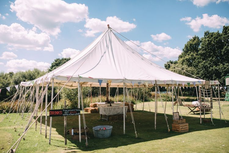 Drinks Tent at Wedding
