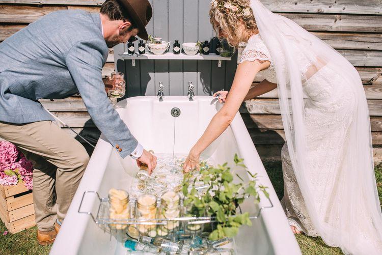 Original Gin Bath at Wedding