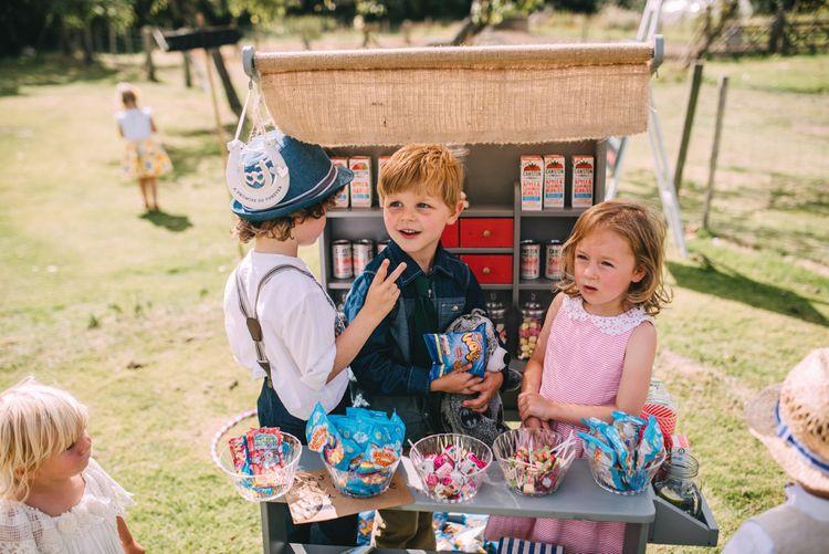 Children's Sweetie Station at Wedding