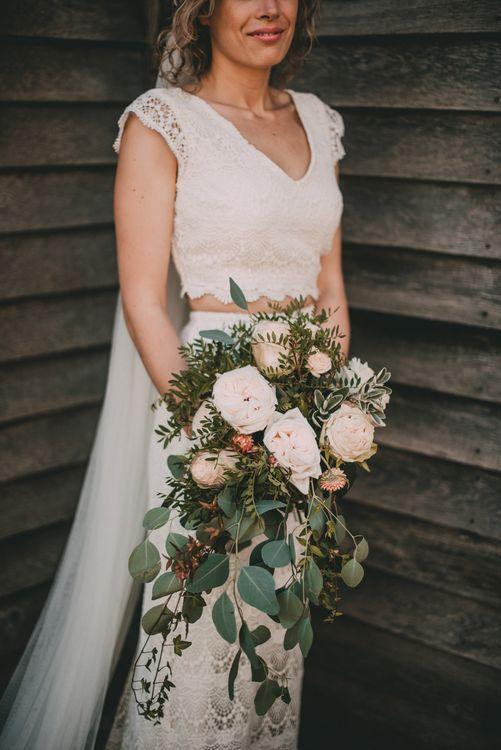 Beautiful Pink Rustic Wedding Bouquet