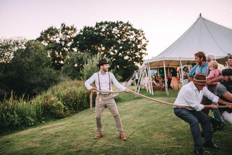 Tug Of War at Wedding Reception